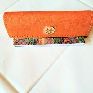 Tory Burch NWOT Orange Eyeglasses case